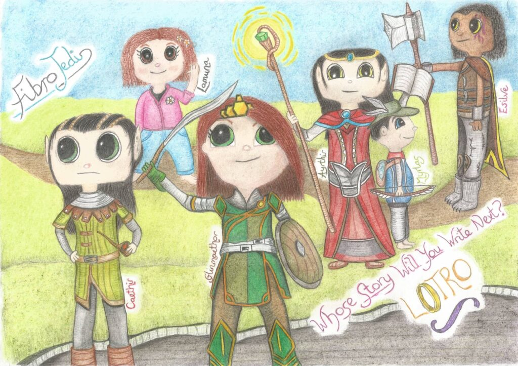 My LOTRO characters draw in the style of True and the Rainbow Kingdom