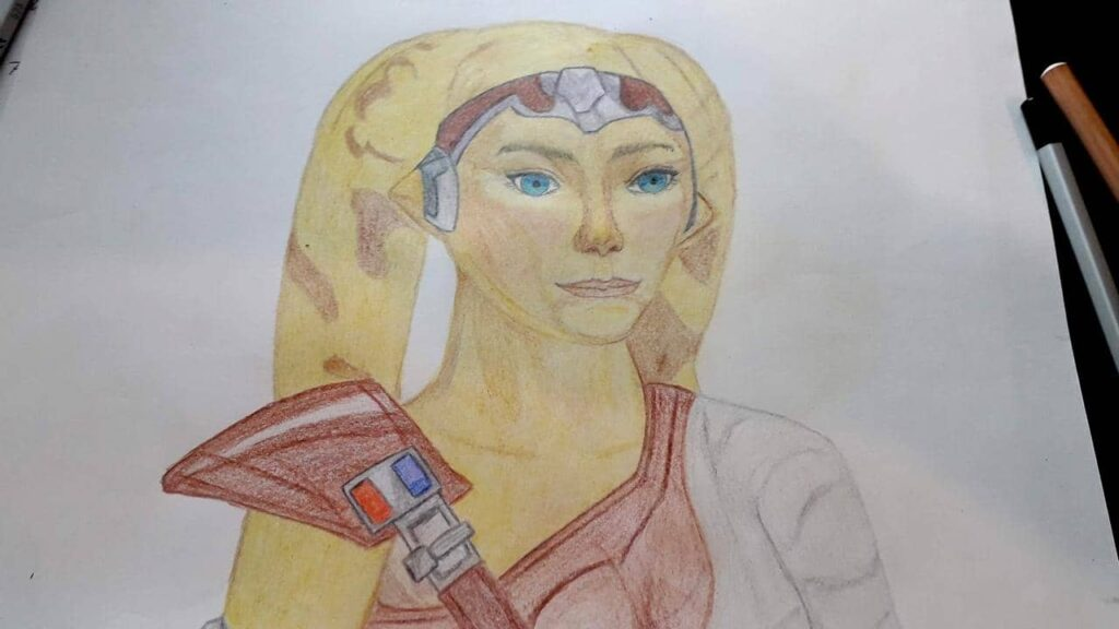 My first drawing of Talitha Koum, my favourite SWTOR Twi'lek Character