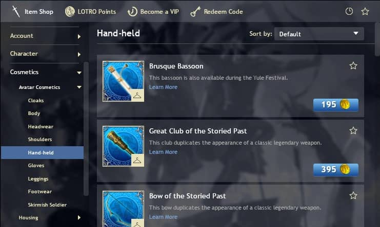 You can buy cosmetics from the LOTRO Store