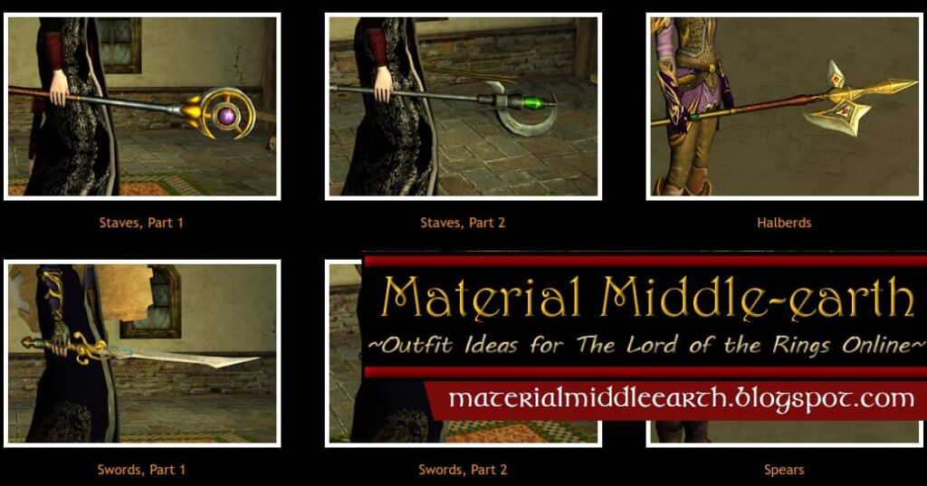 Nathrien's LOTRO Cosmetic Weapons Reference Library