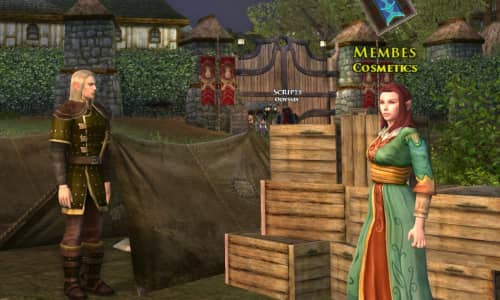 Skirmish Camp cosmetics vendors sell outfit items for Marks and Medallions