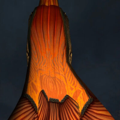 Cloak of the Gloaming Autumn (Hooded) - Back Cosmetic