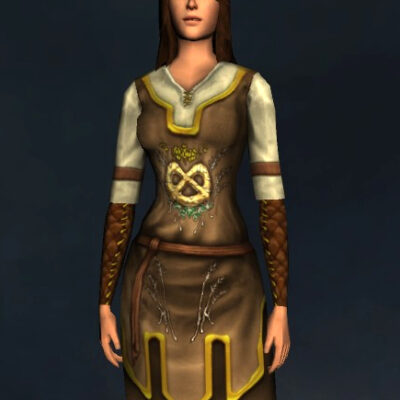 Harvest-Brew Long-Sleeved Tunic and Trousers - Upper Body Cosmetic