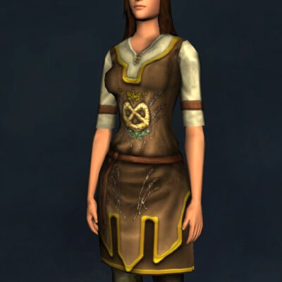 Harvest-Brew Short-Sleeved Tunic and Trousers - Upper Body Cosmetic