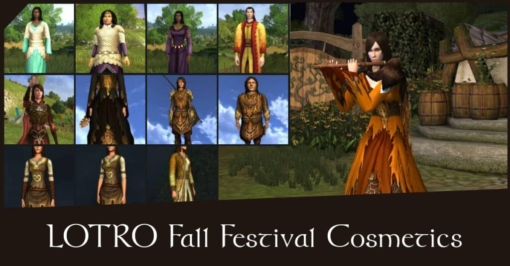 LOTRO Fall Festival Cosmetics - the outfit rewards you can buy with Festival Tokens