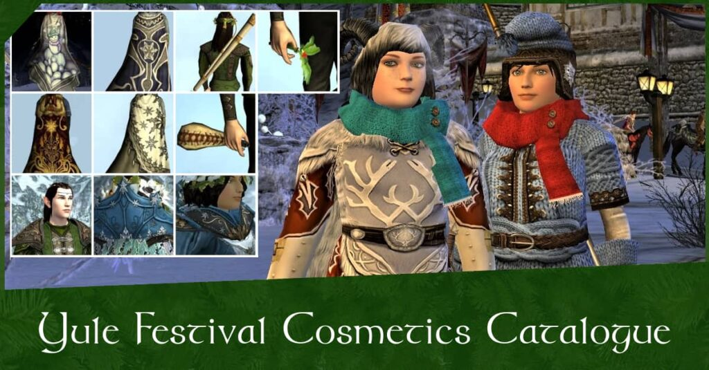 LOTRO Yule Festival Cosmetics for Outfits - Catalogue of Winter-tide Clothing