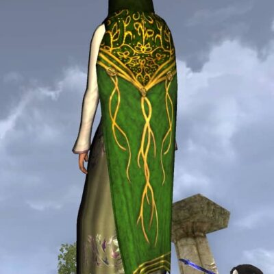 Hooded Cloak of New Bloom - LOTRO Spring Festival Back Cosmetic