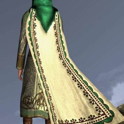 Hooded Cloak of the Mountain Meadow - LOTRO Spring Festival Back Cosmetic