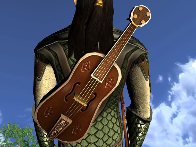 LOTRO Bardic Fiddle - Anniversary Musical Instrument and Cosmetic Weapon