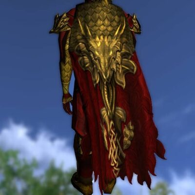 LOTRO Cloak of the Unflagging Dragon - Anniversary Back Cosmetic