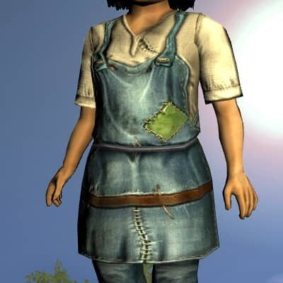 LOTRO Common Short-Sleeved Tunic and Trousers - Anniversary Upper Body Cosmetic (Steel Tokens)