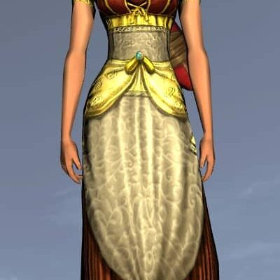 LOTRO Elegant Short-Sleeved Dress - Anniversary Upper Body Cosmetic (Steel Tokens)