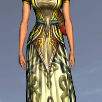 LOTRO Exquisite Short-Sleeved Dress - Anniversary Upper Body Cosmetic (Steel Tokens)