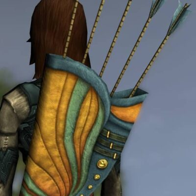 LOTRO Fancy Elven Quiver - Anniversary Back Cosmetic (Steel Tokens)