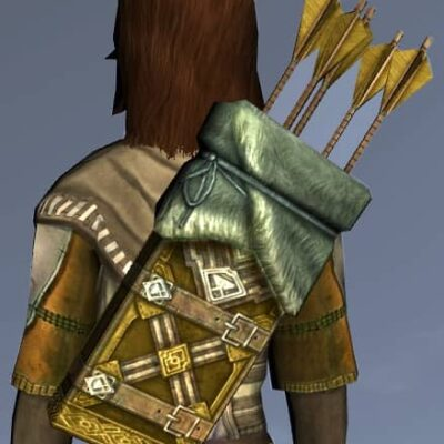 LOTRO Fine Dwarf-Make Quiver - Anniversary Back Cosmetic (Steel Tokens)