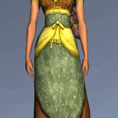 LOTRO Fine Short-Sleeved Dress - Anniversary Upper Body Cosmetic (Steel Tokens)