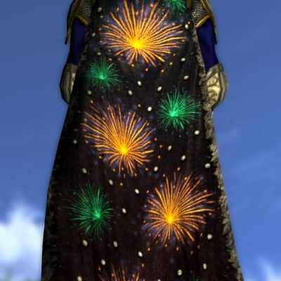 LOTRO Fire Flower Cloak - Anniversary Back Cosmetic