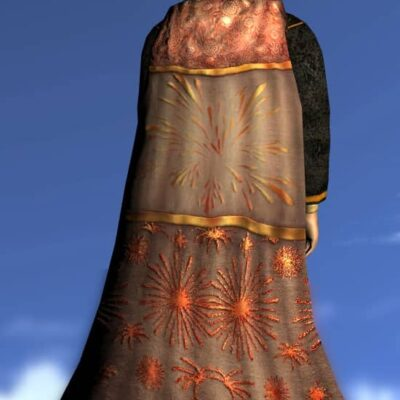 LOTRO Firework Hooded Cloak - Anniversary Back Cosmetic