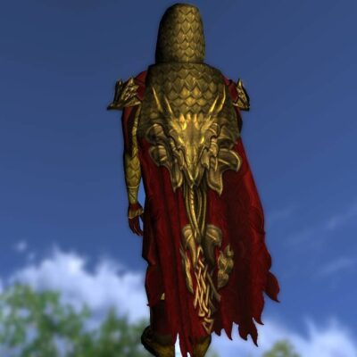 LOTRO Hooded Cloak of the Unflagging Dragon - Anniversary Back Cosmetic