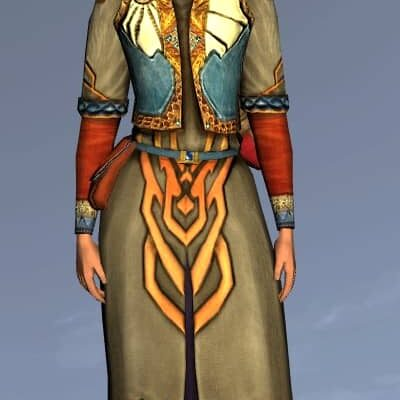 LOTRO Short Fancy Robe - Anniversary Upper Body Cosmetic (Steel Tokens)