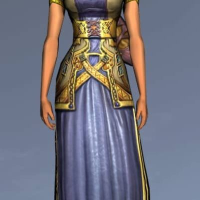 LOTRO Short-Sleeved Dwarf-Make Dress - Anniversary Upper Body Cosmetic (Steel Tokens)