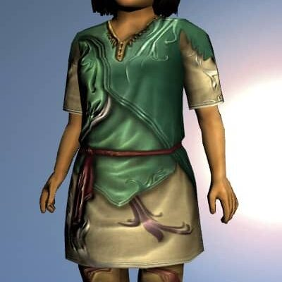 LOTRO Short-Sleeved Elven Tunic and Trousers - Anniversary Upper Body Cosmetic (Steel Tokens)