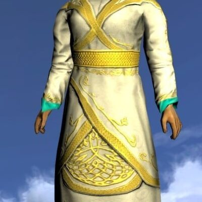 LOTRO Silken Gown of Golden Splendour - Anniversary Upper Body Cosmetic