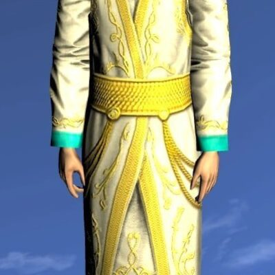 LOTRO Silken Robe of Golden Splendour - Anniversary Upper Body Cosmetic