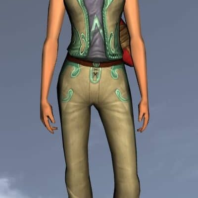 LOTRO Sleeveless Elven Tunic - Anniversary Upper Body Cosmetic (Steel Tokens)