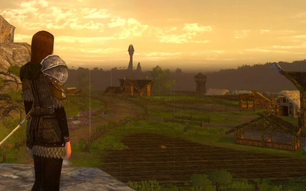 Overlooking the Kingstead Meadows Rohan Housing area in LOTRO