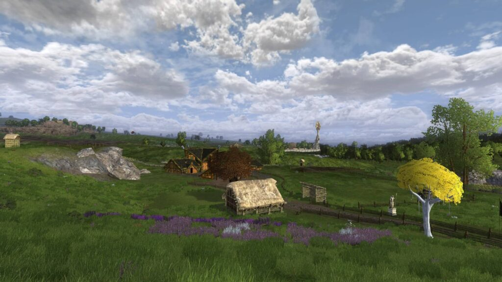 View from a property in the Kingstead Meadows Rohan Housing, LOTRO