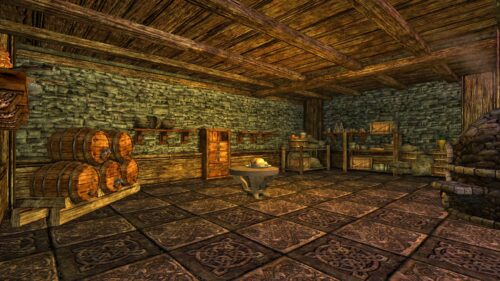 The Cellar Kitchen in my Rohan House, LOTRO