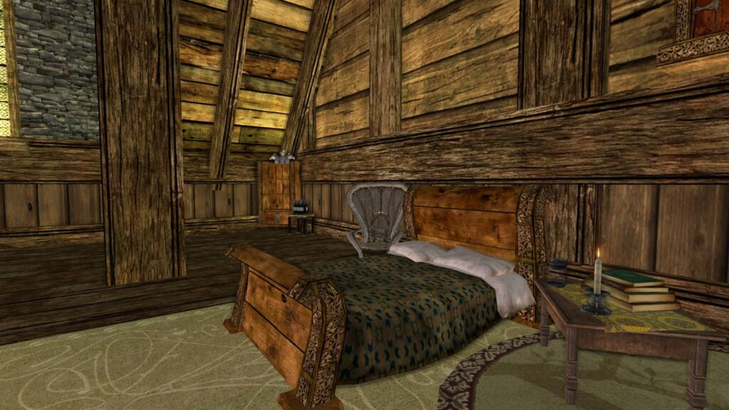 I've used the floor above ground level as the main bedroom