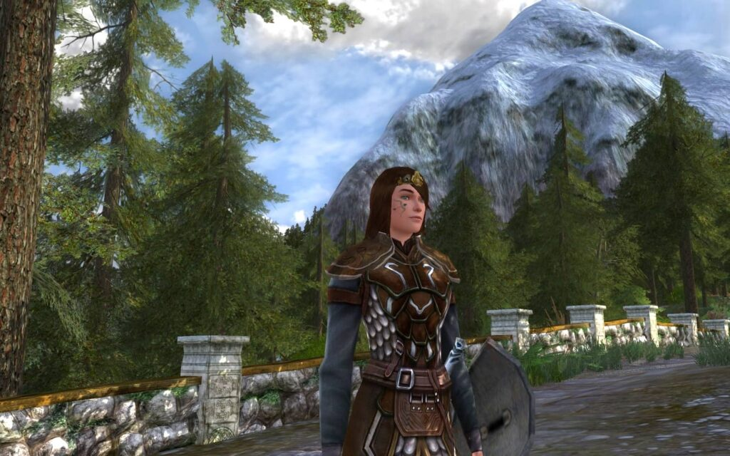 In the forest and mountains of the Eastfold Hills Rohan Housing area in LOTRO