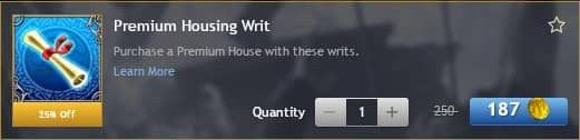 Premium Housing Writs as featured in the LOTRO Store