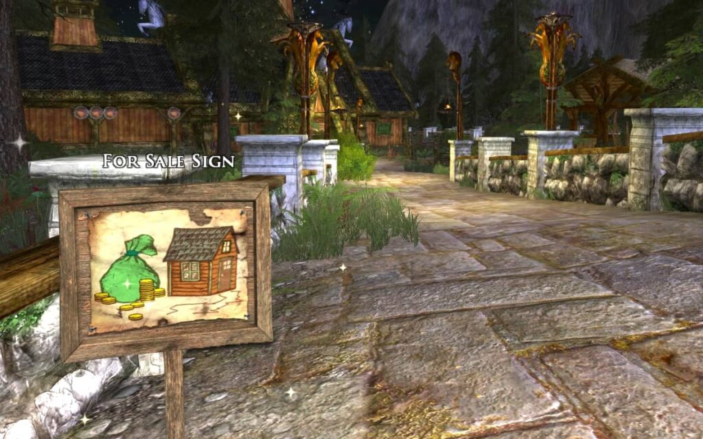 A For Sale sign outside a vacant player house in Rohan