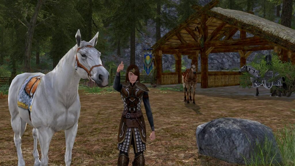 Rohan Housing lets you place your Mounts in Stables using Halters.