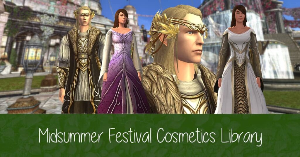 LOTRO Midsummer Outfit Cosmetics Rewards Library