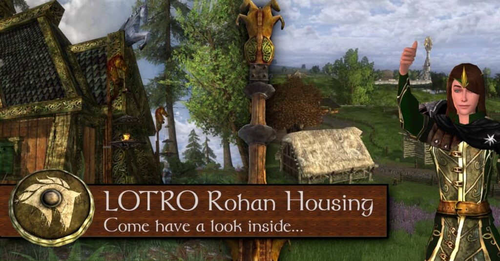 LOTRO Rohan Housing Guide - Kingstead Meadow and Eastfold Hills Premium Housing