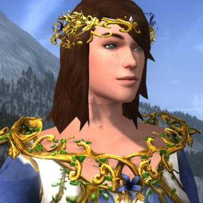 Mantle of Entwining Blossoms - LOTRO Midsummer Shoulders Cosmetic