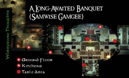 Map of Sam's Worrysome Thoughts - Samwise Gamgee Banquet Quest - LOTRO Midsummer