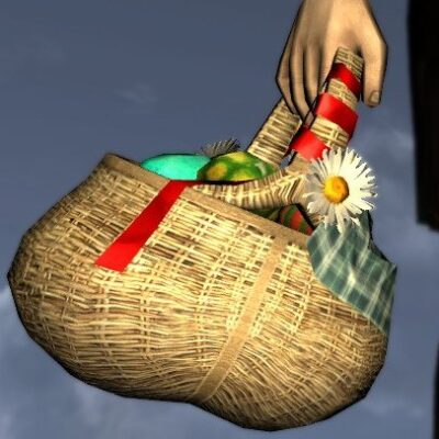 Basket of Colourful Eggs - LOTRO Farmer's Faire Held Item / Cosmetic Weapon