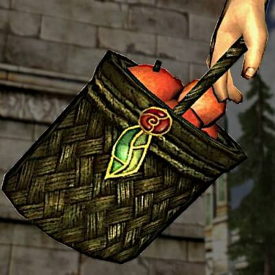 LOTRO Basket of Freshly-Picked Apples - Farmer's Faire Held Item / Cosmetic Weapon