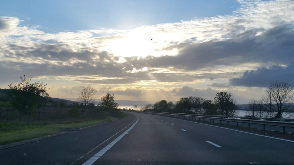 An old photo I took in a car - as a Passenger, I promise!
