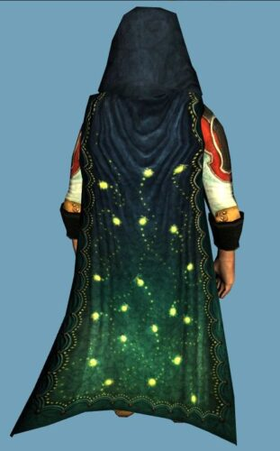 LOTRO Hooded Cloak of the Light-Wisps - Farmers Faire Back Cosmetic