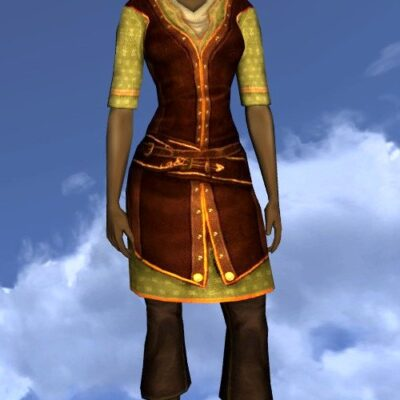 LOTRO Short-Sleeved Summer Tunic and Trousers - Farmers Faire Upper Body Cosmetic - Female Beorning