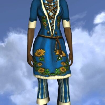 LOTRO Short-sleeved Sunflower Tunic and Trousers - Farmers Faire Upper Body Cosmetic