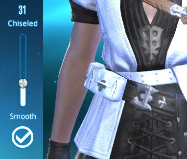 Set muscle definition on new Hyur character in FFXIV