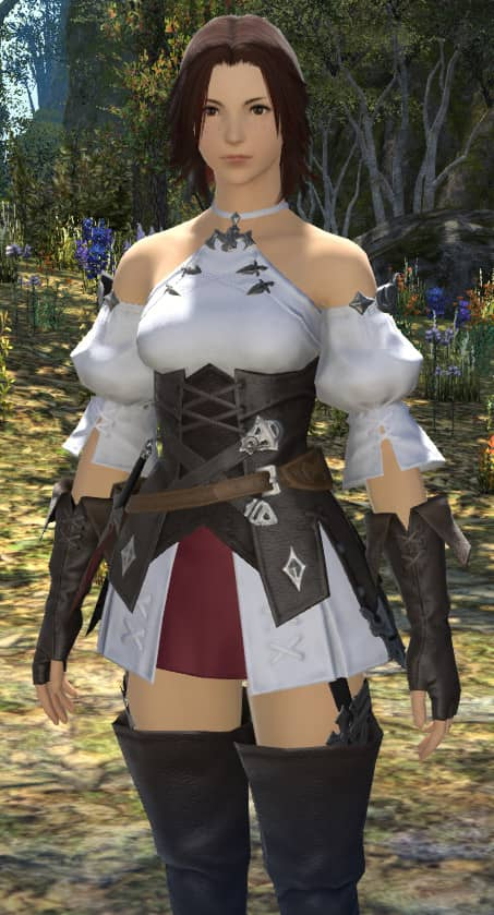 Wifey's completed Female Hyur in FFXIV