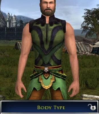 LOTRO Slimmest Body Type for a Male Race of Man